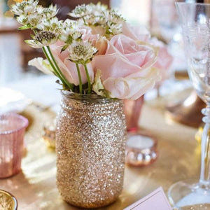 Pint Glitter Mason Jars - Knot and Nest Designs