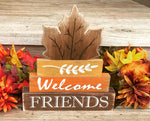 Welcome Friends Rustic Wooden Decor