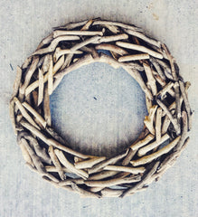 Rustic Wooden Wreath - Knot and Nest Designs