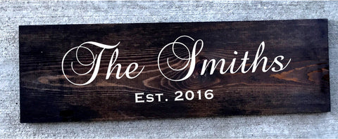 Customized Rustic Sign - Knot and Nest Designs