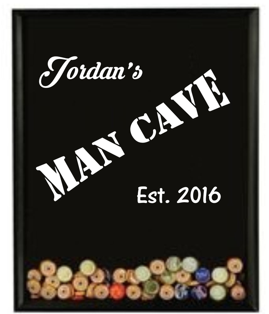 Load image into Gallery viewer, Mens gift - Man Cave bottlecap holder - Knot and Nest Designs