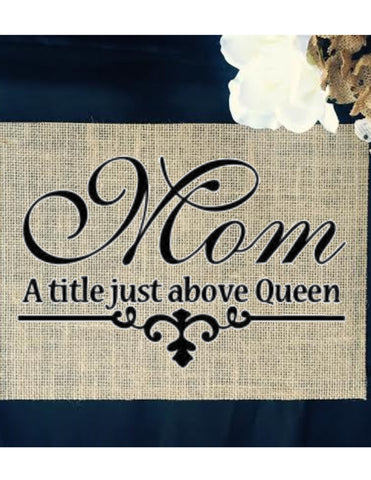 Burlap Mothers Day Sign - Knot and Nest Designs