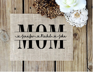 Custom Mom Sign - Knot and Nest Designs