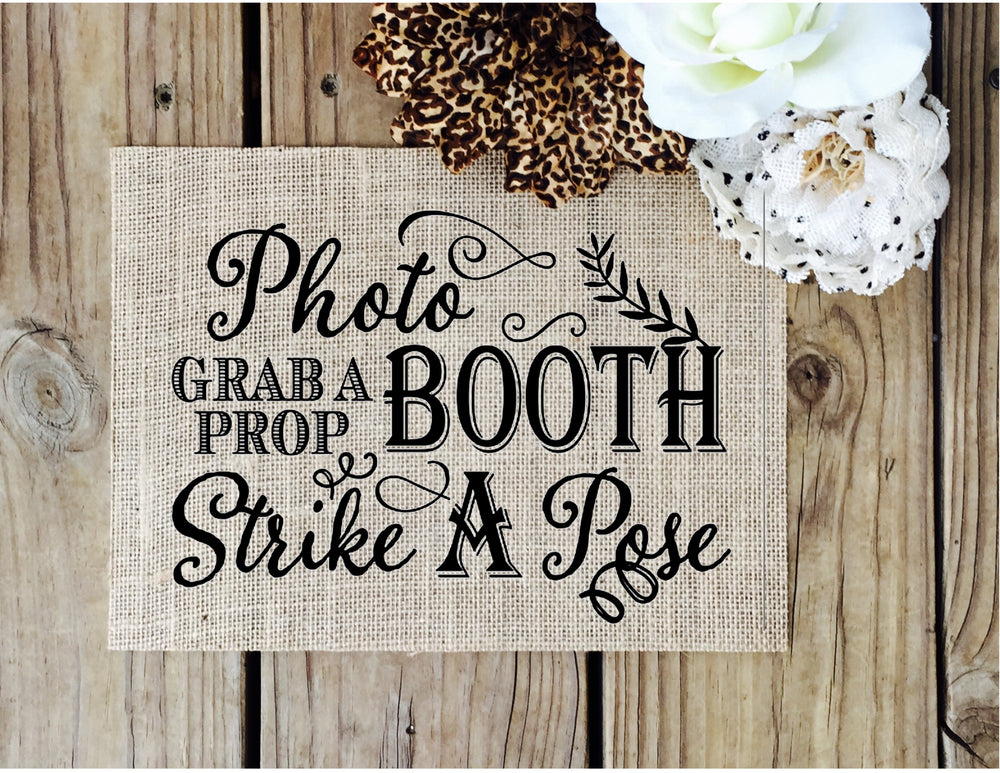 Photo Booth Sign - Knot and Nest Designs