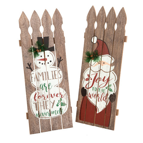 Snowman and Santa Rustic Pallet Decor - Knot and Nest Designs