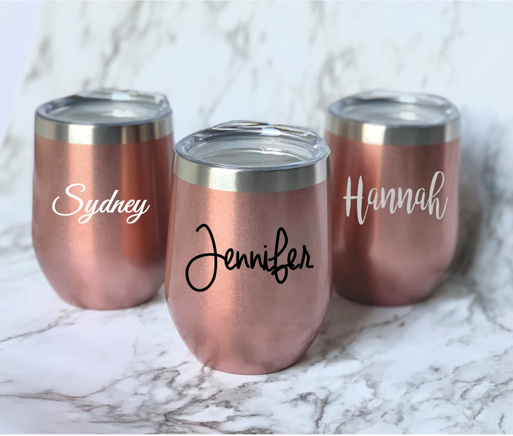 Customized Insulated tumbler - Knot and Nest Designs