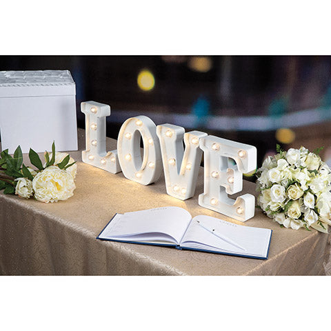 Marquee Lighted Love Letters - Knot and Nest Designs