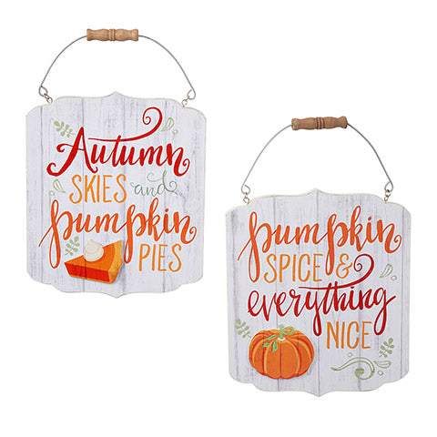 2 - Rustic Fall Signs - Knot and Nest Designs