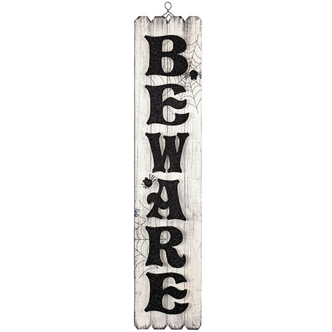 Halloween Beware Porch Sign - Knot and Nest Designs