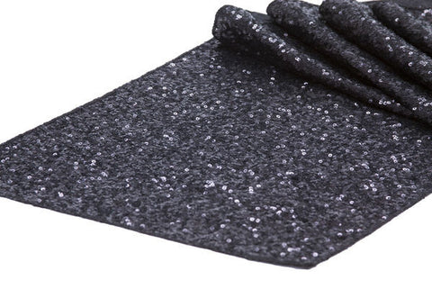 Black Sequin Table Runner - Knot and Nest Designs