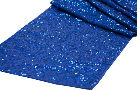 Blue Sequin Table Runner - Knot and Nest Designs