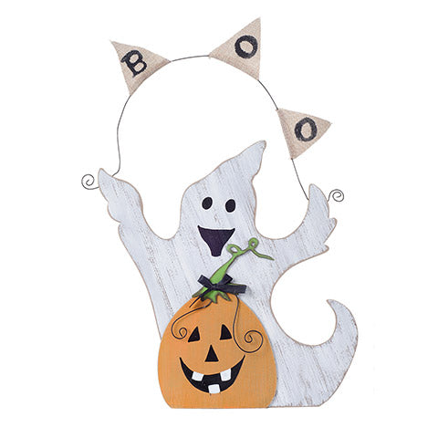 Halloween Wood Ghost - Knot and Nest Designs