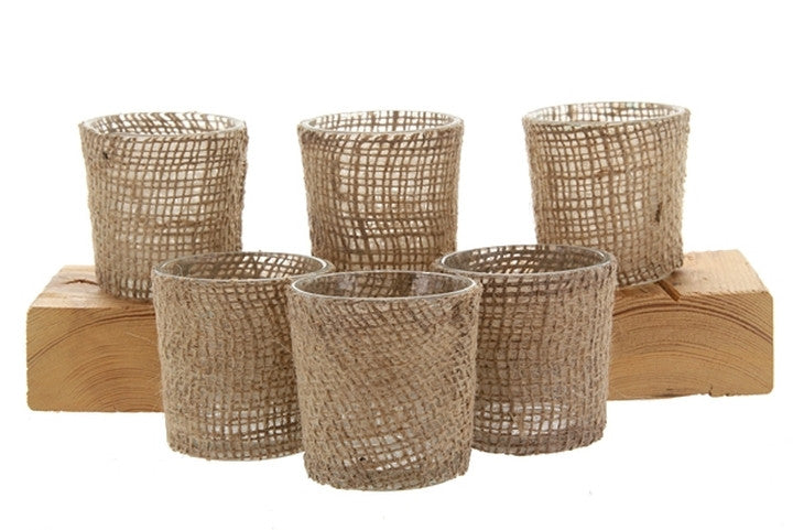 Burlap Votives - 12 Pack - Knot and Nest Designs