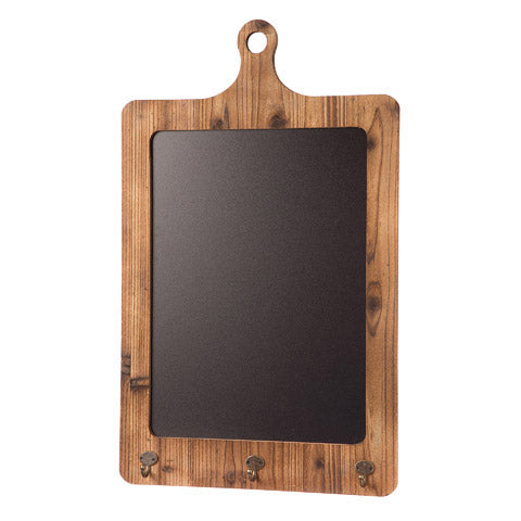 Large Chalkboard media Board with key hooks