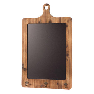 Large Chalkboard media Board with key hooks - Knot and Nest Designs