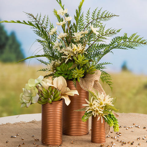 3-Piece Copper Vase Set - Knot and Nest Designs