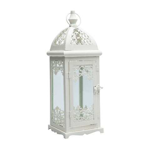 Decorative Ivory Rustic Lantern - Knot and Nest Designs