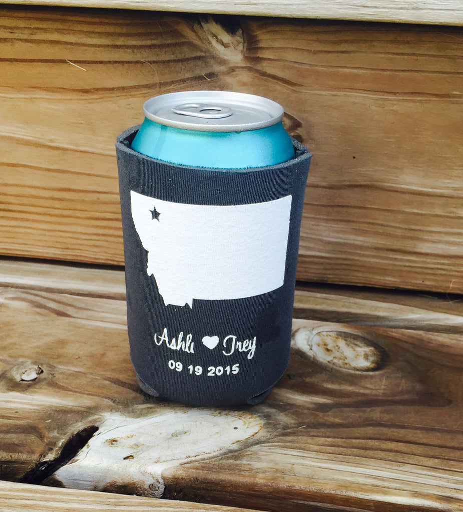 Custom Koozies - Choose your state - Custom State Koozies - Knot and Nest Designs