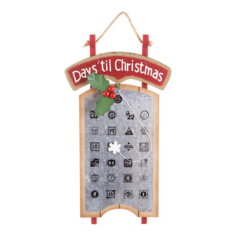 Days Until Christmas Wall Decor