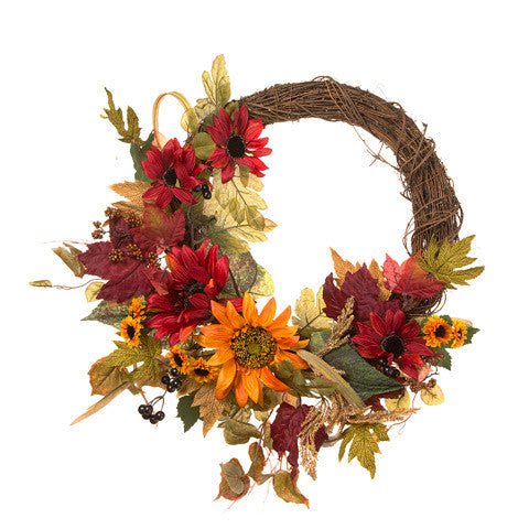Fall Floral Wreath - Knot and Nest Designs