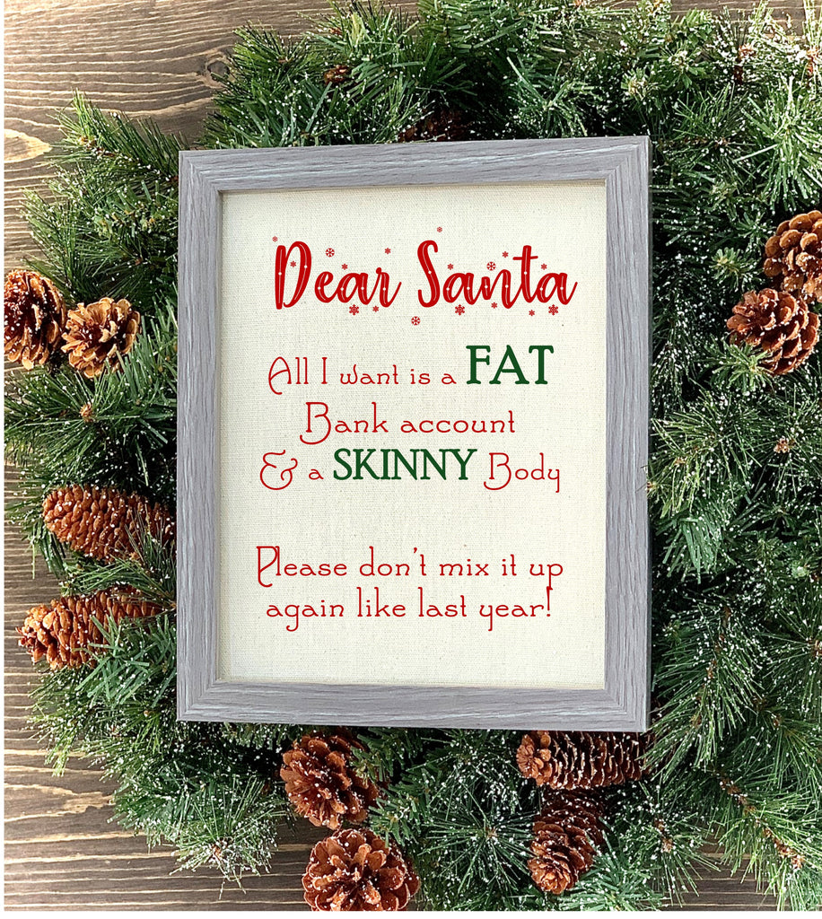 Dear Santa Sign - Knot and Nest Designs