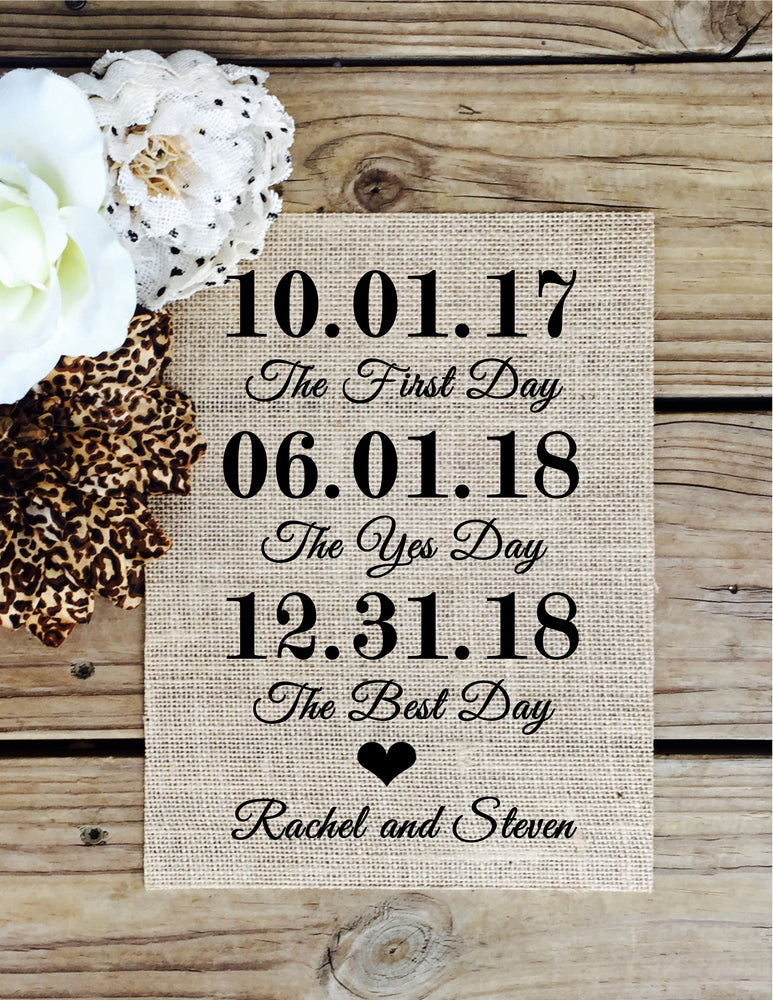 The First Day the Yes Day the Best Day Custom Sign