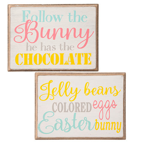 2 pack easter Signs