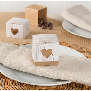 24 rustic favor boxes - Knot and Nest Designs