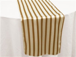 Gold and White Table Runners set of 10