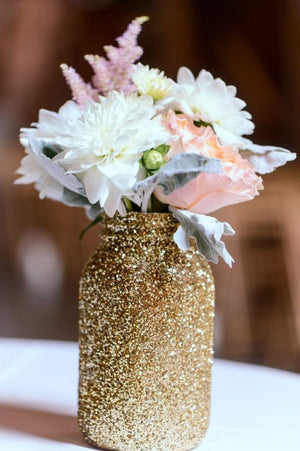 Glitter Mason Jar - Knot and Nest Designs