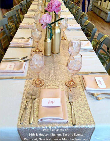 5 Sequin Table Runners   Knot And Nest Designs
