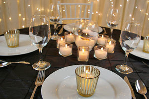 Gold Stripe votives - 12 pack - Knot and Nest Designs