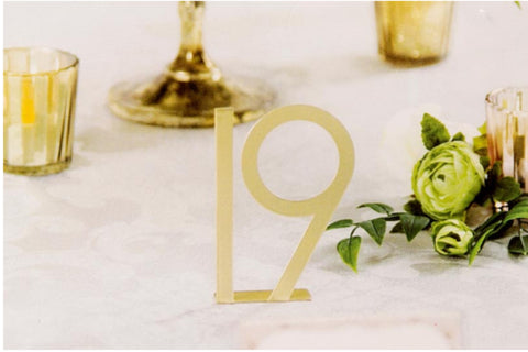 Gold Metal Table Numbers 1-25 - Knot and Nest Designs