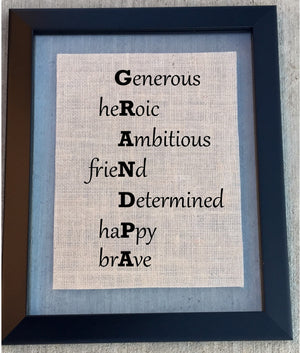 Burlap Grandpa Sign - Knot and Nest Designs