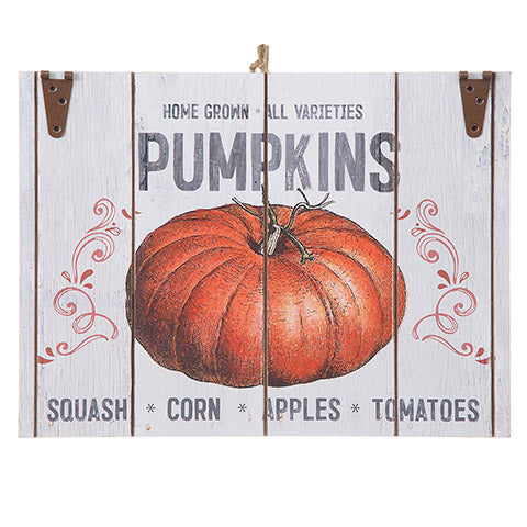 Homegrown Pumpkins Farmhouse Decor