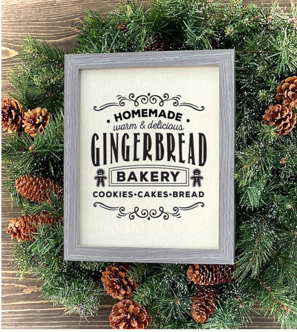Homemade gingerbread cookies sign