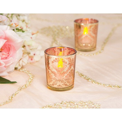 Gold Mercury Pattern Votives - 12 Pack - Knot and Nest Designs
