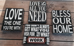 Rustic Signs - Knot and Nest Designs