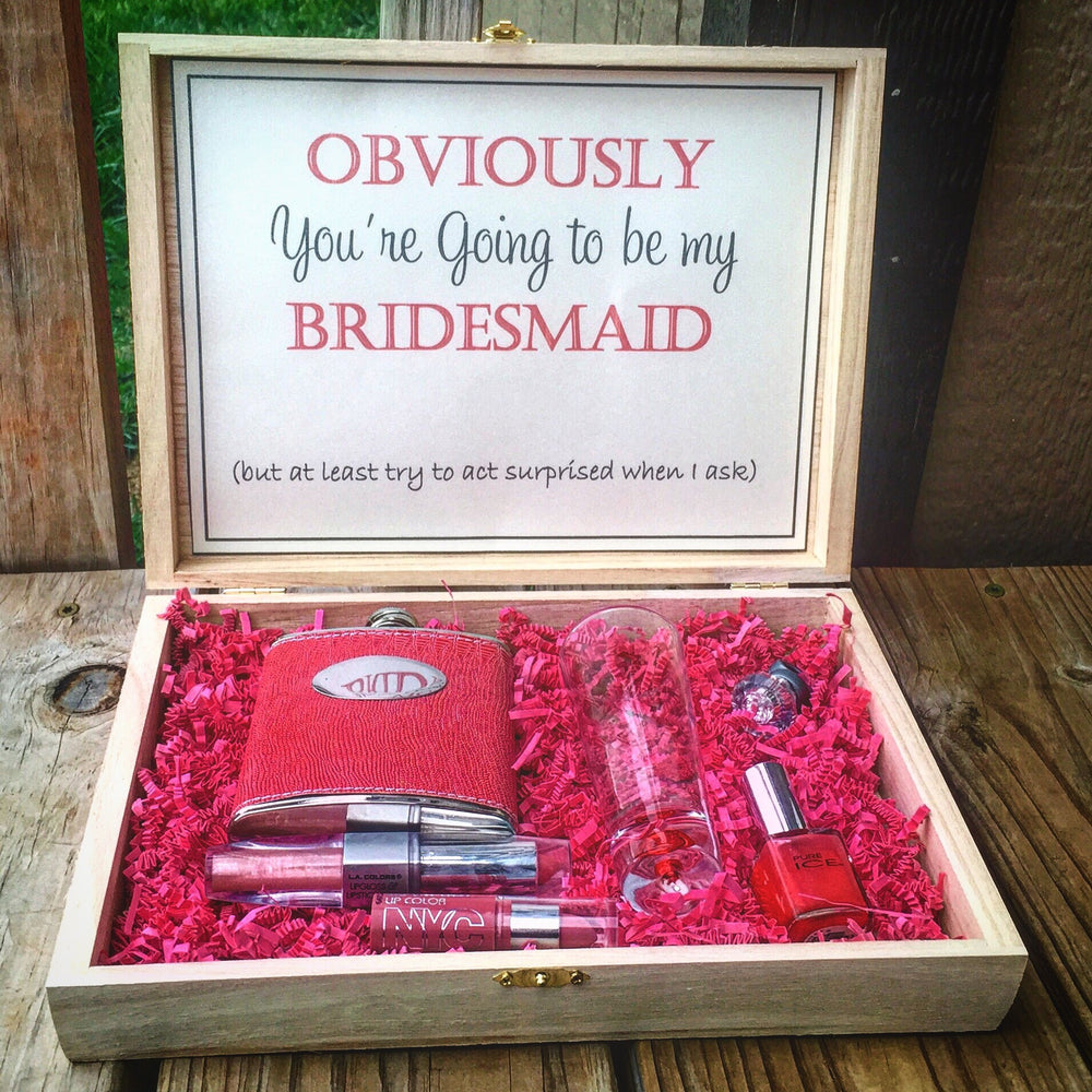 Engraved Bridesmaid box - Knot and Nest Designs