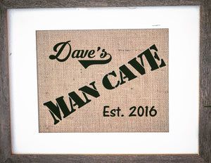 Mens Gift Man Cave Sign - Knot and Nest Designs