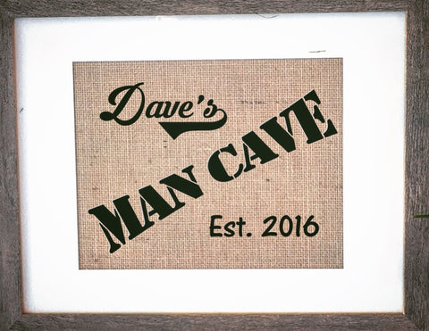 Mens Gift Man Cave Sign