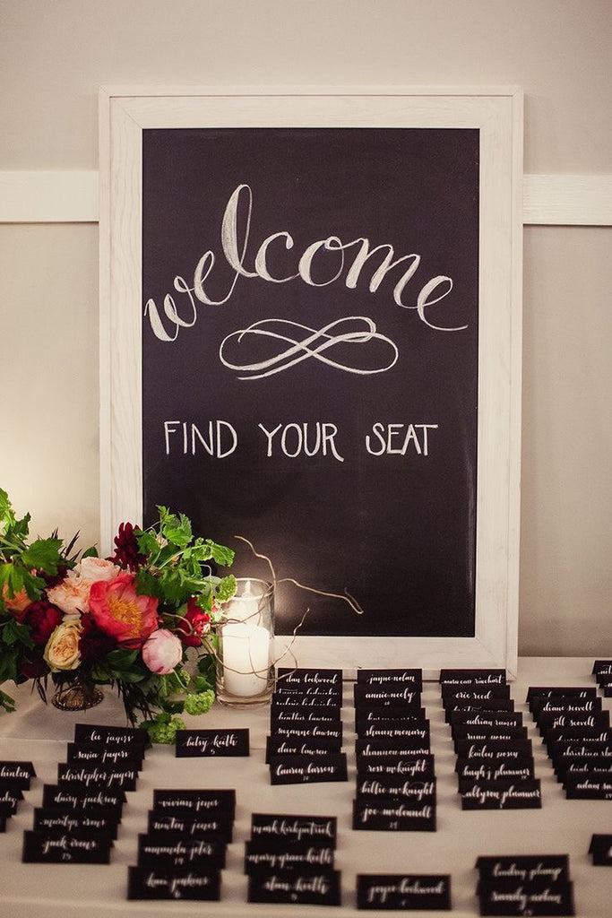 Chalkboard place cards 72 pack - Knot and Nest Designs