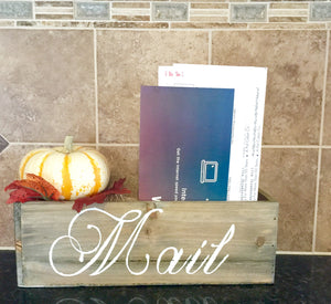 Rustic mail organizer - Knot and Nest Designs