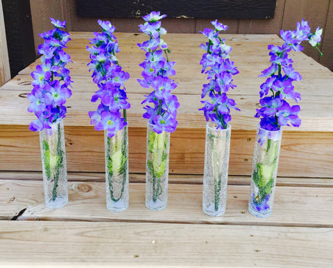 5 pack of bud vases
