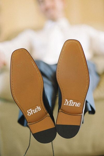 Groom shoe decals - Knot and Nest Designs