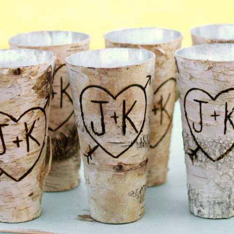 Birch vase - choose your initials