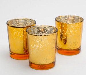 Amber Mercury Votives 12 pack - Knot and Nest Designs