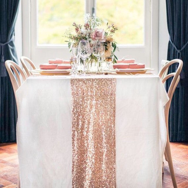 17 Sequin Table Runners - Knot and Nest Designs