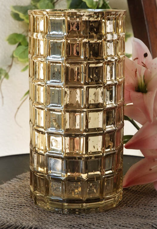 3 pack of Gold mercury vases or Silver Mercury Vases - Knot and Nest Designs