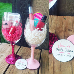 Bachelorette party Wine glasses - Knot and Nest Designs
